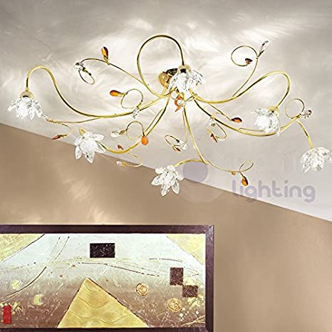 Lámpara de techo lámpara techo diseño moderno 6 luces brazos ...
