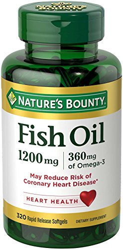 Nature's Bounty Omega-3 Fish Oil 1200 mg Softgels 320 ea
