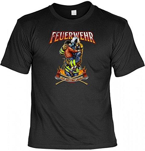 T-Shirt Funshirt - Feuerwehr Wir retten Leben - witziges Spruchshirt als Geschenk für den Feuerwehrmann