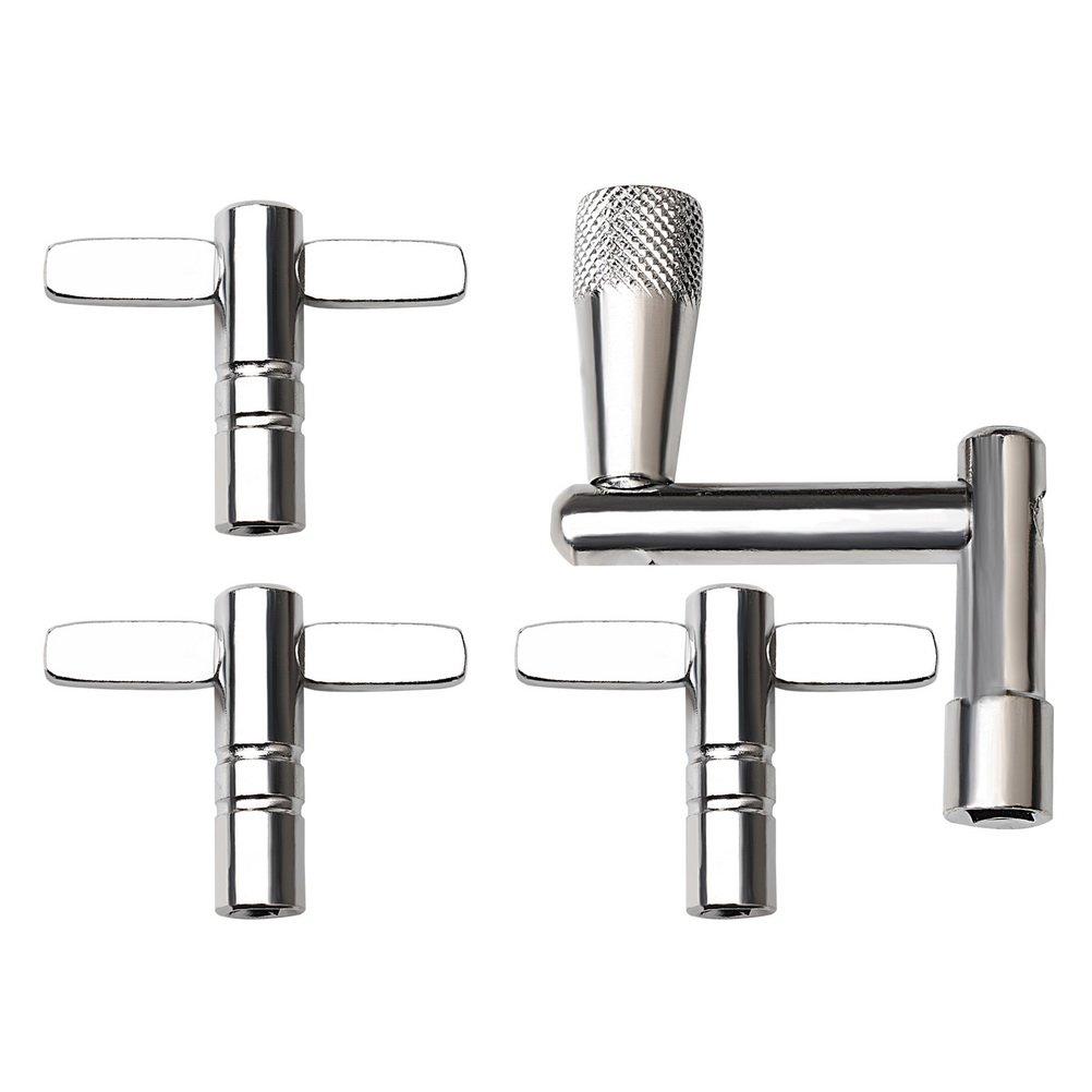 Hugesavings 4 Pcs Drum Keys Drum Tuning Key Tension Drum Key, Continuous Motion Speed Key & 3 Pack Standard Key