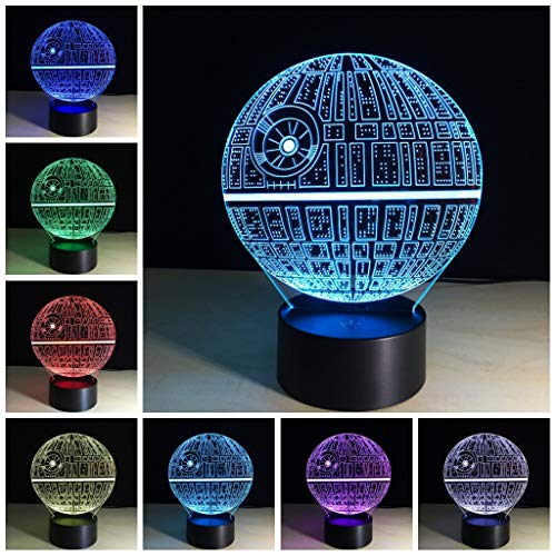 3D Illusion Platform Night Lighting Press Switch Bedside Lamp 7 Color Changing LED Lights &Baby Nursery Nightlight Kids' Room Home Party Décor Best Xmas Birthday Gifts