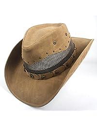 CP   YR Sombrero de vaquero occidental para hombres Mujeres Cowgirl Jazz  Cap Sombreros de ala 7d39420ed10