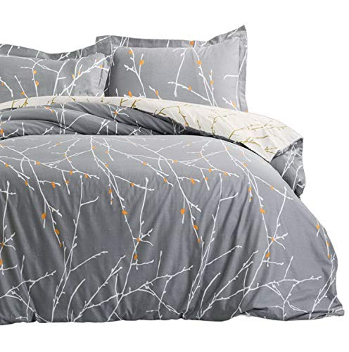 Hemau with Sha Set with Zipper Closure - 3 Piece Printed Pattern Comforter Insert Cover King Size (104