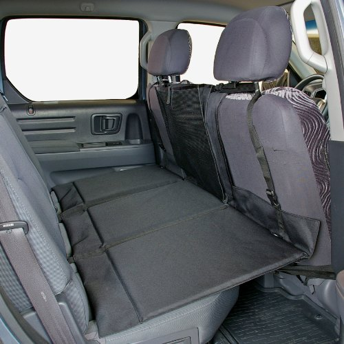 Bushwhacker® - Paws n Claws Backseat Pet Bridge - Ideal for Trucks, SUVs, and Full Sized Sedans Dog Car Seat Extender Platform Cover Barrier Divider Restraint