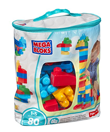 photo Wallpaper of Mega Bloks-Mega Bloks 80 Piece Big Building Bag, Classic-Blue