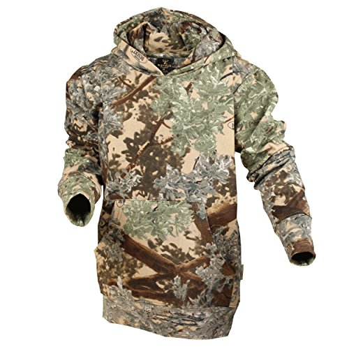 King's Camo Kids Camo Cotton Hunting Hoodie, Desert Shadow, - Youth Hunting Clothes