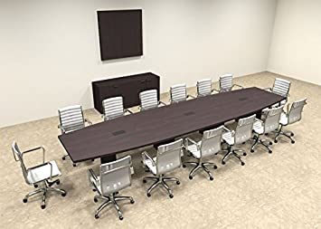 Modern Boat Shaped 16' Feet Conference Table, #OF-CON-C73