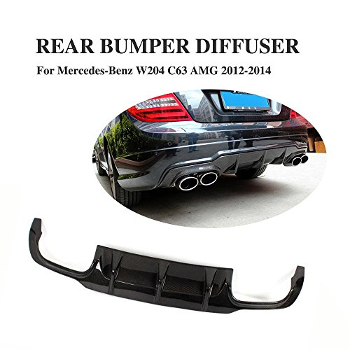 JCSPORTLINE Carbon Fiber Rear Diffuser AMG-Bumper for Mercedes Benz W204 C-Class C250 C350 C63 2012-2014 (without vent fin)