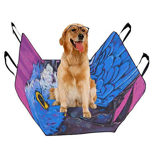 XINGCHENSS Fashion Oxford Pet Car Seat Parrot Oil Painting Bird Painting Speak Smart Spirituality Waterproof Nonslip Canine Pet Dog Bed Hammock Convertible for Cars Trucks SUV