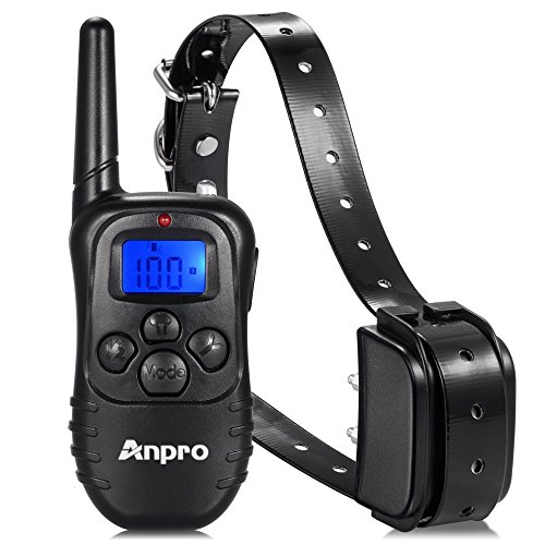 Anpro 330 yards Rechargeable Remote Dog Training Collar with Beep, Vibration and Shock for 15 to 100 lbs Breed Dog...