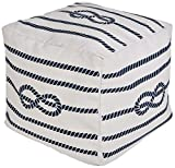 Surya Cube Pouf Ottoman in Ivory