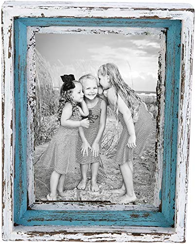 Beachcombers SS-BCS-04763 Frames, Multicolor - Wood Distressed Frame