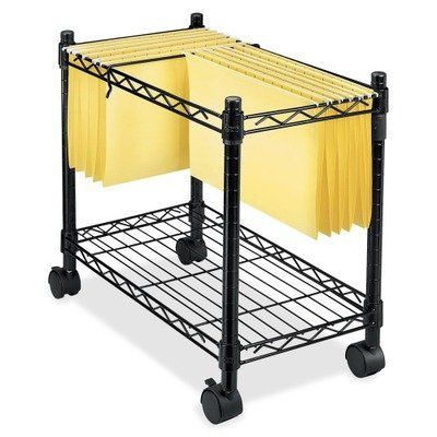 Fellowesamp;reg; High-Capacity Mobile File Cart, 24w x14d x 20-1/2h, Black