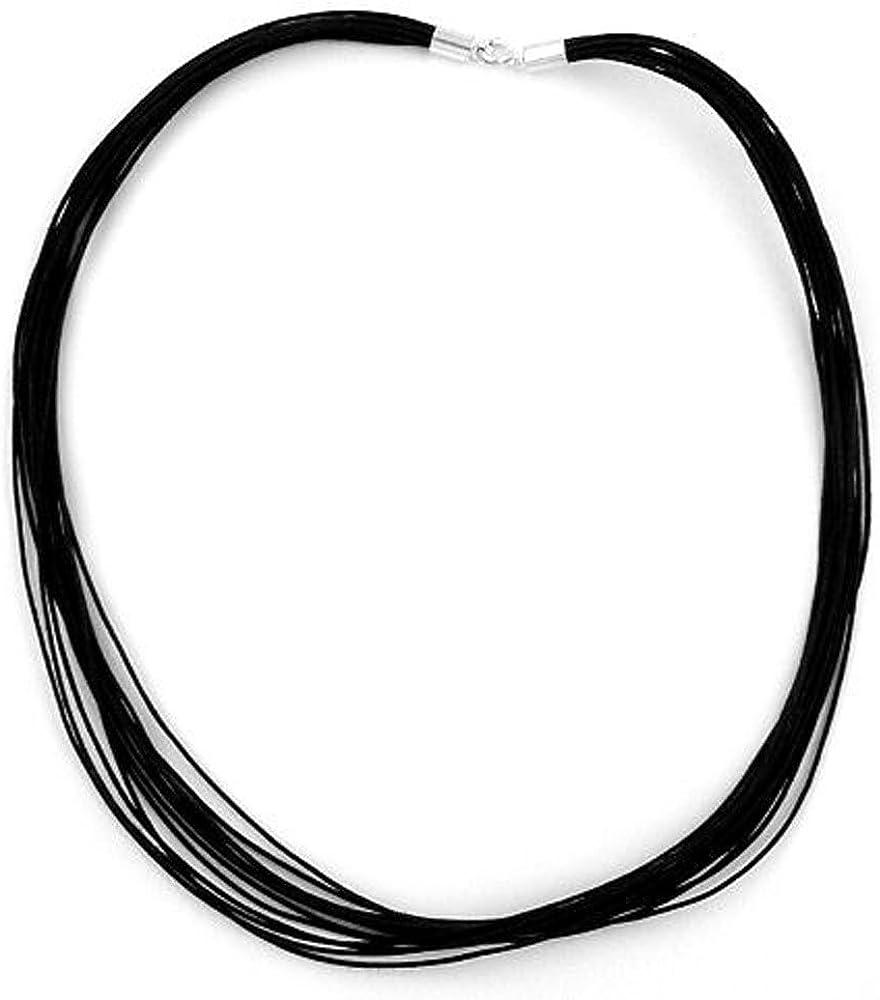 Joyería de la cadena, 46 cm cable, cierre en plata 925 G92963