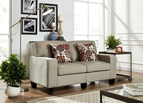 US Pride Furniture S5140 Contemporary Style Fabric Armed Loveseat