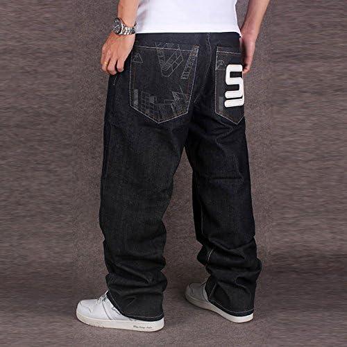 メンズ デニムパンツ ゆったり バギーパンツ ボトムス 極太 カーゴパンツ 大きいサイズ ヒップホップ ストリート系 KZ-042