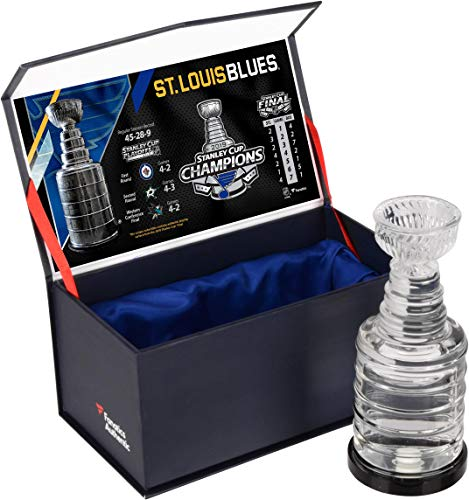 St. Louis Blues 2019 Stanley Cup Champions Crystal Stanley Cup - Filled with Ice from the 2019 Stanley Cup Final - Fanatics Authentic ()