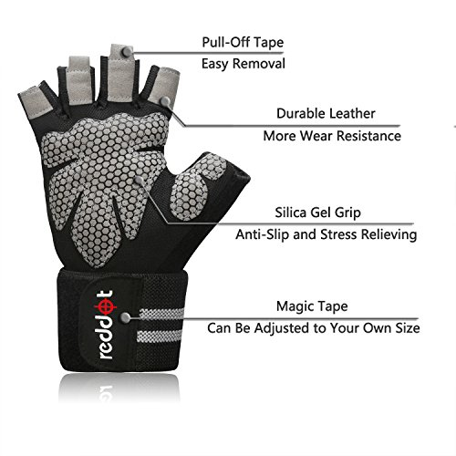 Aqf Weight Lifting Gloves Ultralight Breathable Gym Gloves: Ultralight Microfiber & Anti-Slip