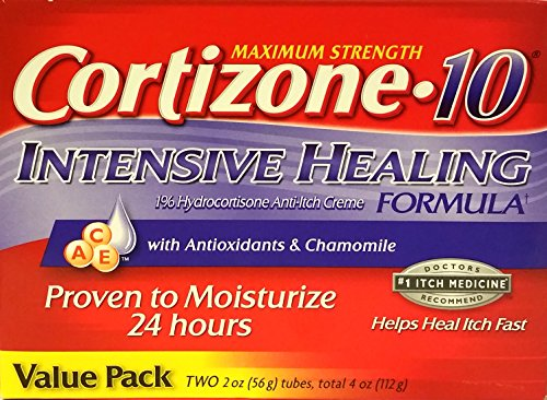 Cortizone-10 Max Strength Cortizone-10 Intensive Healing Formula with Antioxidants and Chamomile, Two 2 oz tubes by Unknown