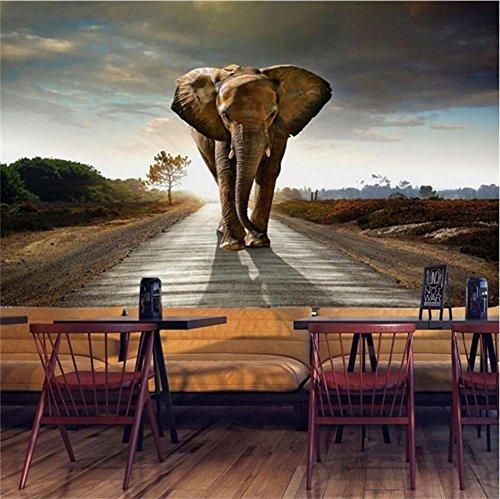 CICDGD wallpaper Wallpaper Elephant Pattern 3D Customizable Mural Decorating Living Room/Bedroom / Restaurant/Theme Hotel/TV Wall