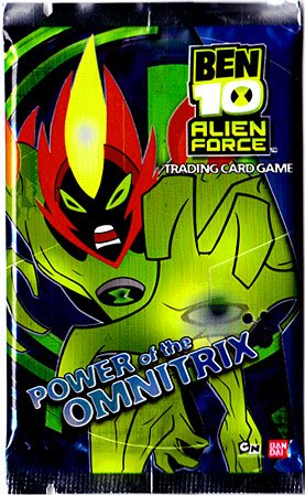 Ben 10 Alien Force Trading Card Game Power of the Omnitrix Booster Pack - Ben 10 Card Game