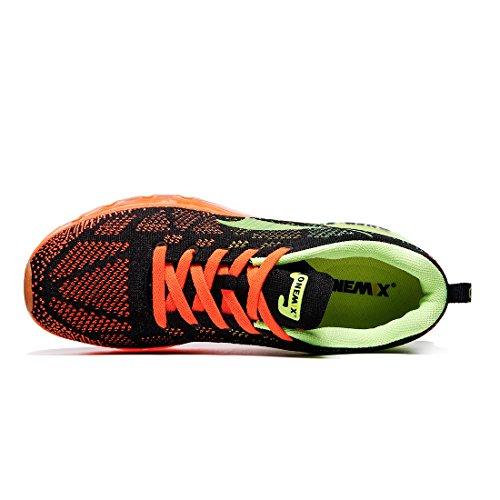 Black Mujer Orange Green Y Running Zapatillas Fluorescent Correr Deportes Onemix Libre Exterior De Para Aire Zapatos En Asfalto 4HOT6wxq