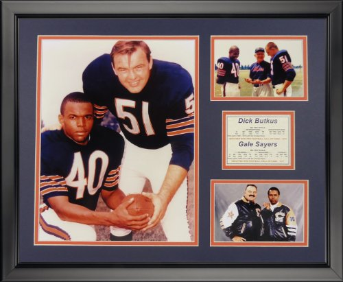 Legends Never Die Dick Butkus and Gale Sayers - Chicago Bears Framed Photo Collage, 16