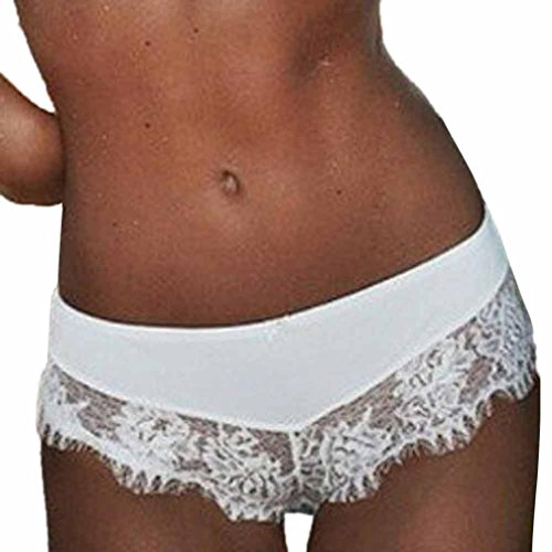Secy Halloween Outfits (Leedford Women Knickers Thongs G-String Seamless Lace Briefs Underwear Lingerie (XL, White))