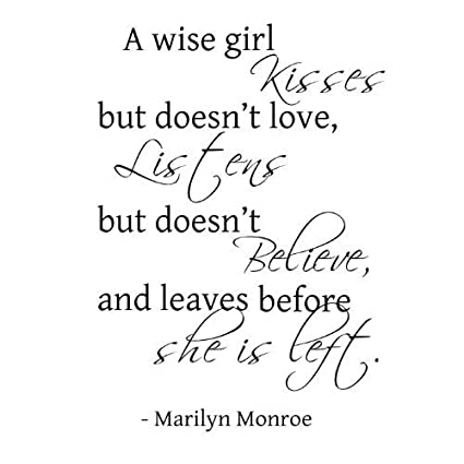 Amazon.com: Marilyn Monroe A Wise Girl quote 22x17 wall saying
