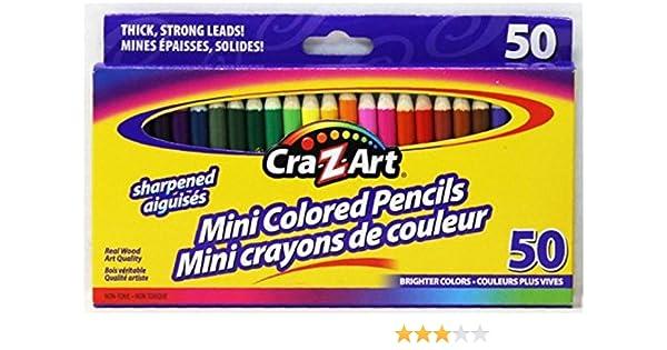 Pack de 50 Cra-Z-Art Mini lápices de colores: Amazon.es: Oficina y papelería