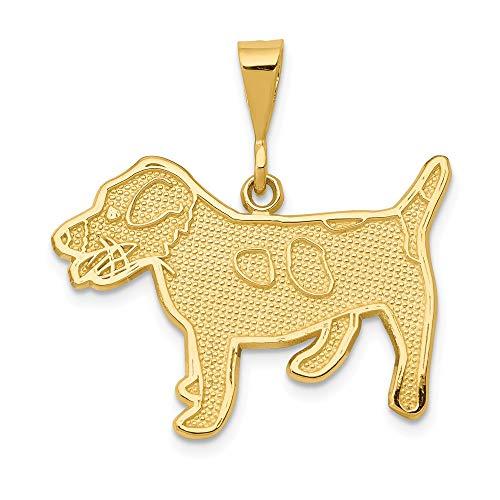 (14k Jack Russell Terrier Dog Pendant )