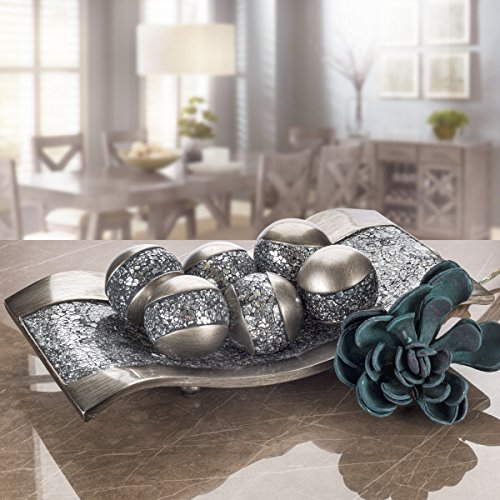 Living Room Table Centerpieces: Creative Scents Schonwerk Centerpiece Dish- Crackled