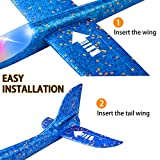 """2 Pack LED Light Airplane,17.5"""" Large Throwing Foam"""