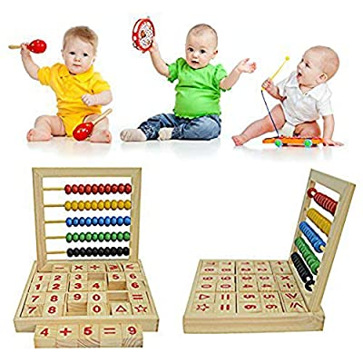 Anniston Kids Toys, Wooden Abacus Children Counting Number Alphabet Letter Blocks Educational Toy Learning & Education Perfect Fun Time Play Activity Gift for Boys Girls: Toys & Games