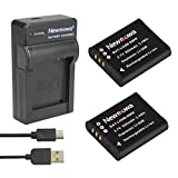 Newmowa Li-50B Battery (2-Pack) and Portable Micro USB Charger kit for Olympus LI-50B and Olympus SZ-10 SZ-12 SZ-15 SZ-16 iHS Sz-20 SZ-30MR SZ31MR iHS TG-610 TG-630 iHS TG-810 TG-820 TG-830 TG-850 iHS XZ-1 XZ-16 iHS SP-810UZ Stylus Tough TG-860 Digital Camera + More!! (2 batteries + 1 charger)