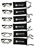 6-Pack Active Kyds Safety Glasses for Kids Construction Costumes or Protective Eyewear with Microfiber Pouches