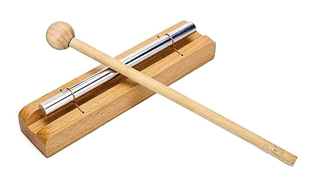 Energy Meditation Zen Chime Single Bar Solo Percussion Instrument With Mallet For Meditation, Yoga & Class Room - Premium Quality Wood Jive