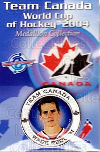 2004 World Cup Hockey - (CI) Wade Redden Hockey Card 2004 Team Canada World Cup Medallion 23 Wade Redden