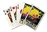 Madrid, Spain - Madrid in Springtime - Vintage Travel Advertisement (Playing Card Deck - 52 Card Poker Size with Jokers)