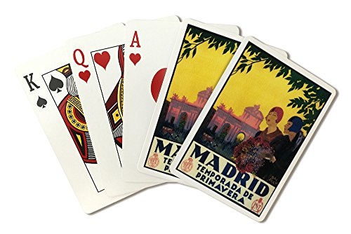 Madrid, Spain - Madrid in Springtime - Vintage Travel Advertisement (Playing Card Deck - 52 Card Poker Size with Jokers) by Lantern Press
