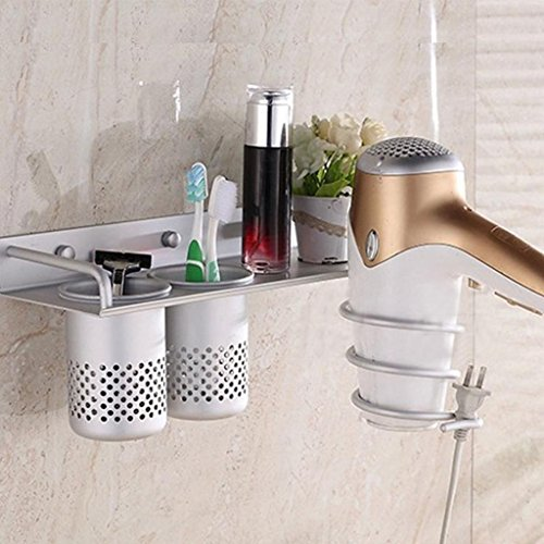 Hair Dryer Stand Storage Organizer Rack Holder Hanger Wall Mounted Bathroom (Smith College Costumes Design)