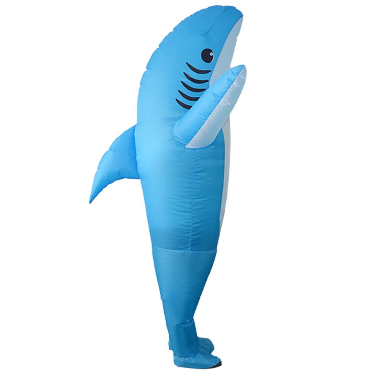 Amazon.com: Disfraz de halloween inflable unisex de tiburón ...