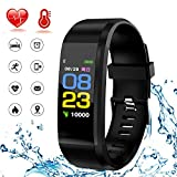 HK Fitness Tracker HR,Activity Tracker Smart Watch Waterproof Smart Bracelet Wristband with Heart Rate Blood Pressure Sleep Monitor GPS Step Calorie Counter Pedometer for Kids Women Men