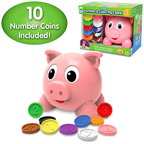 The Learning Journey Learn With Me - Numbers & Colors Pig E Bank - Color and Number STEM Teaching Toddler Toys & Gifts for Boys & Girls Ages 2 Years and Up - Award-Winning Preschool Learning Toy
