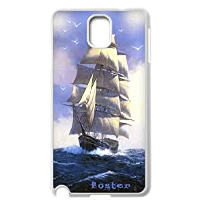 Unique Design -ZE-MIN PHONE CASE- For Samsung Galaxy NOTE3 Case Cover -Sailing & Tall Ship-CUSTOM-DESIGH 1