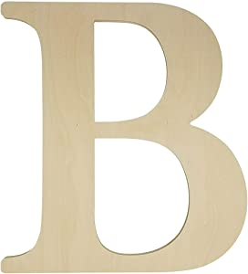 Unfinished Wooden Letter for Wedding Guestbook or Wall Decor (24