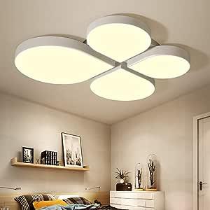 Modern Lighting White Bedroom Lamp Simple Modern Warm Romantic Restaurant Living Room Lamp Study Warm Creative Personality Led Ceiling Lamp 600 * 550 * 80 (mm)