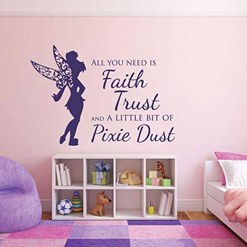 Pink Wall Decals for Girls Fairy