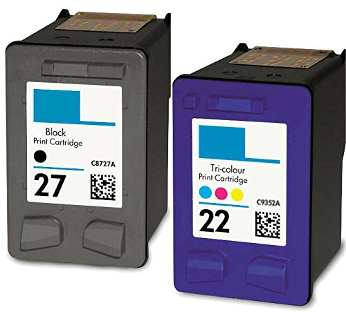 HouseOfToners Remanufactured Ink Cartridge Replacement for HP 27 & 22 (1 Black & 1 Color, 2-Pack) - 5610 Replacement
