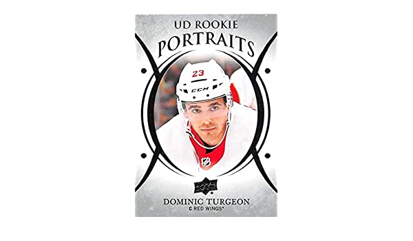 fa4c94035a4 Amazon.com  2018-19 Upper Deck Portraits  P-68 Dominic Turgeon Detroit Red  Wings NHL Hockey Trading Card  Collectibles   Fine Art